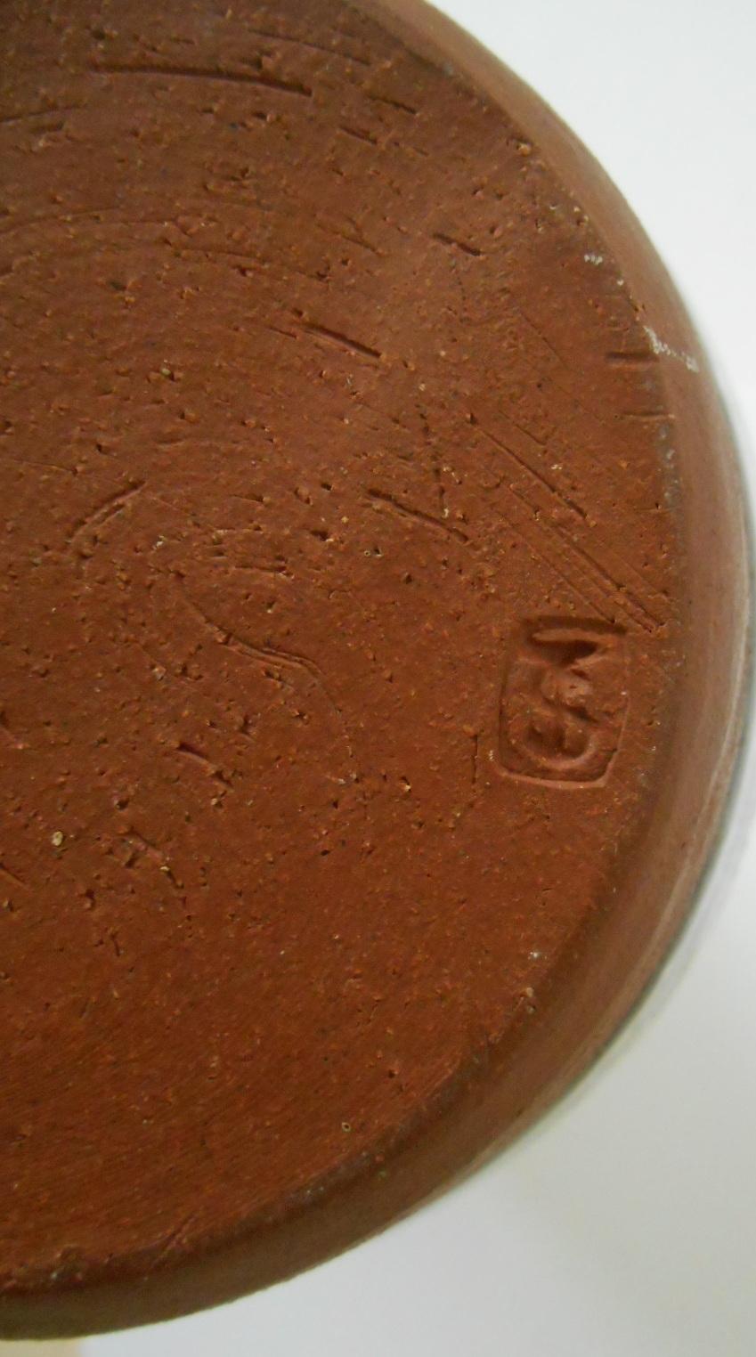 Earthenware Vase J S or T S initials - John Shelly? I.D. help appreciated. Dscn2014