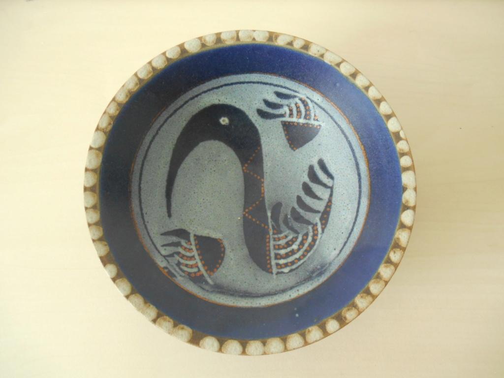 Scandinavian? Swan Cobalt Blue Handwritten mark Help please Dscn4711