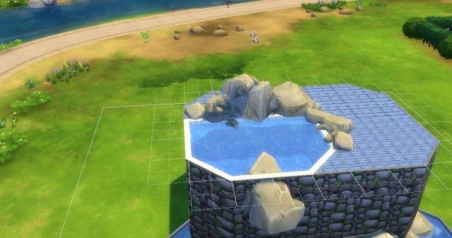 [Intermédiaire] Simuler une cascade attenante à une piscine 09-06-16