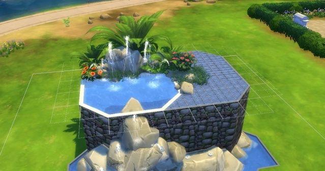 [Intermédiaire] Simuler une cascade attenante à une piscine 09-06-19