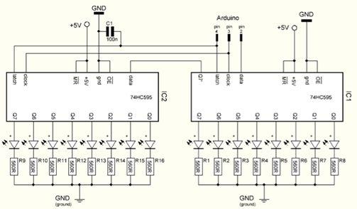 الليد ماتريكس LED MATRIX  علميا وعمليا والبرمجة بلغة السى والمترجم MIKROC والمترجم CCS C : 1015