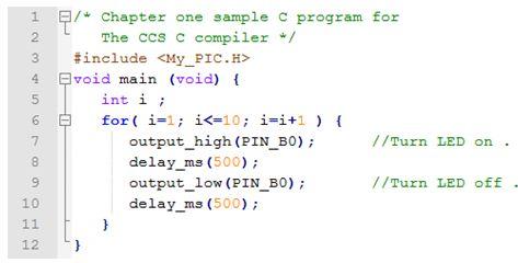ترجمة وإعداد كتاب البرمجة بلغة السى المدمجة وتطبيقات لغة السى والميكروكونترولر PIC مع المترجم CCS C  : Embedded C Programming Techniques and Applications of C and PIC® MCUS 119