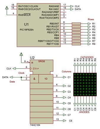 كيفية البدء فى عمل شاشة ليد ماتريكس ناجحة والبرمجة بلغة السى مع المترجم ميكروسى برو : 133