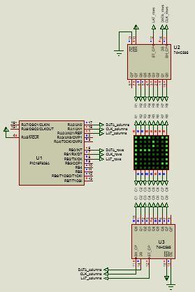 كيفية البدء فى عمل شاشة ليد ماتريكس ناجحة والبرمجة بلغة السى مع المترجم ميكروسى برو : 135