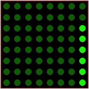 كيفية البدء فى عمل شاشة ليد ماتريكس ناجحة والبرمجة بلغة السى مع المترجم ميكروسى برو : 232