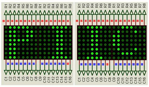 كيفية البدء فى عمل شاشة ليد ماتريكس ناجحة والبرمجة بلغة السى مع المترجم ميكروسى برو : 234