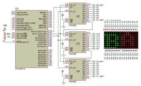 الليد ماتريكس LED MATRIX  علميا وعمليا والبرمجة بلغة السى والمترجم MIKROC والمترجم CCS C : 326
