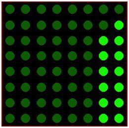 كيفية البدء فى عمل شاشة ليد ماتريكس ناجحة والبرمجة بلغة السى مع المترجم ميكروسى برو : 328