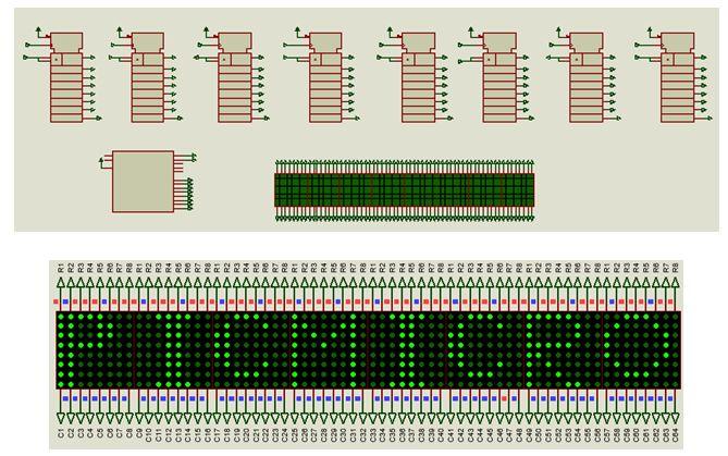 كيفية البدء فى عمل شاشة ليد ماتريكس ناجحة والبرمجة بلغة السى مع المترجم ميكروسى برو : 329