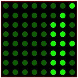 كيفية البدء فى عمل شاشة ليد ماتريكس ناجحة والبرمجة بلغة السى مع المترجم ميكروسى برو : 424