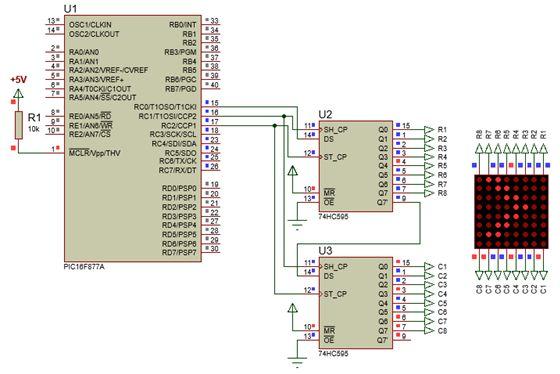 الليد ماتريكس LED MATRIX  علميا وعمليا والبرمجة بلغة السى والمترجم MIKROC والمترجم CCS C : 520
