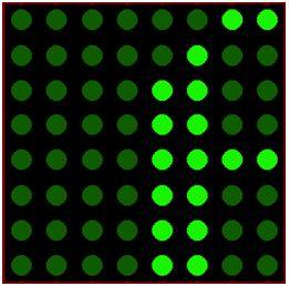 كيفية البدء فى عمل شاشة ليد ماتريكس ناجحة والبرمجة بلغة السى مع المترجم ميكروسى برو : 522