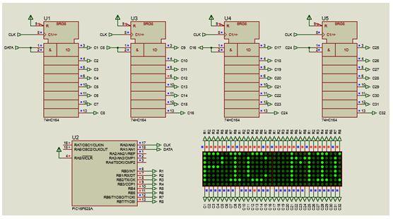 كيفية البدء فى عمل شاشة ليد ماتريكس ناجحة والبرمجة بلغة السى مع المترجم ميكروسى برو : 524