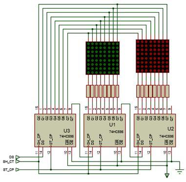 الليد ماتريكس LED MATRIX  علميا وعمليا والبرمجة بلغة السى والمترجم MIKROC والمترجم CCS C : 618