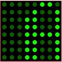 كيفية البدء فى عمل شاشة ليد ماتريكس ناجحة والبرمجة بلغة السى مع المترجم ميكروسى برو : 621