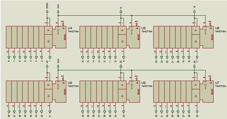 كيفية البدء فى عمل شاشة ليد ماتريكس ناجحة والبرمجة بلغة السى مع المترجم ميكروسى برو : 622