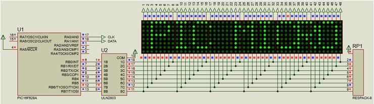 كيفية البدء فى عمل شاشة ليد ماتريكس ناجحة والبرمجة بلغة السى مع المترجم ميكروسى برو : 718