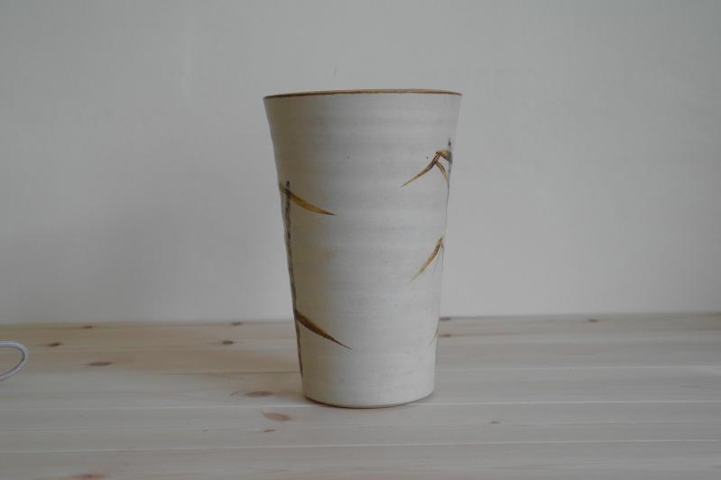 Vase or Planter with Bamboo Design Signed ML Sam_0812