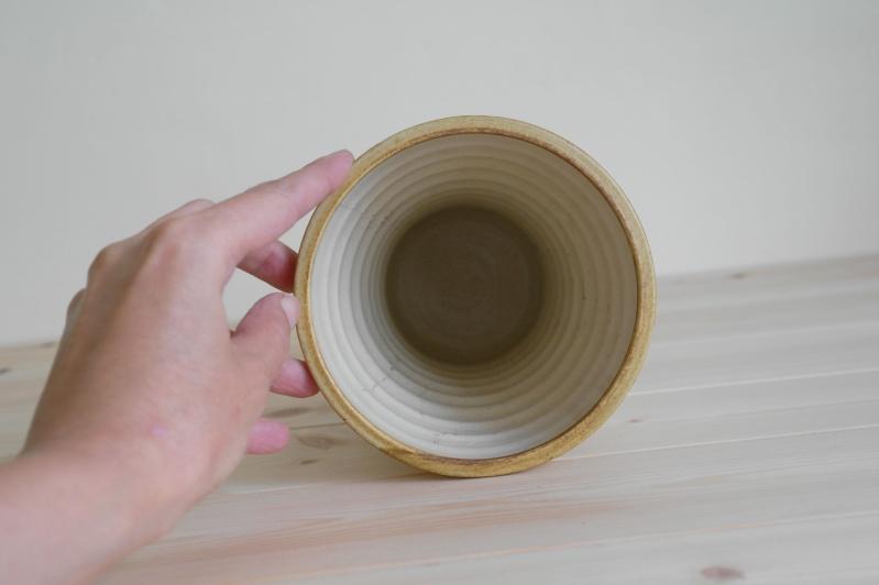 Vase or Planter with Bamboo Design Signed ML Sam_0813
