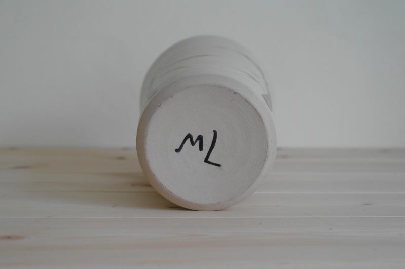 Vase or Planter with Bamboo Design Signed ML Sam_0814
