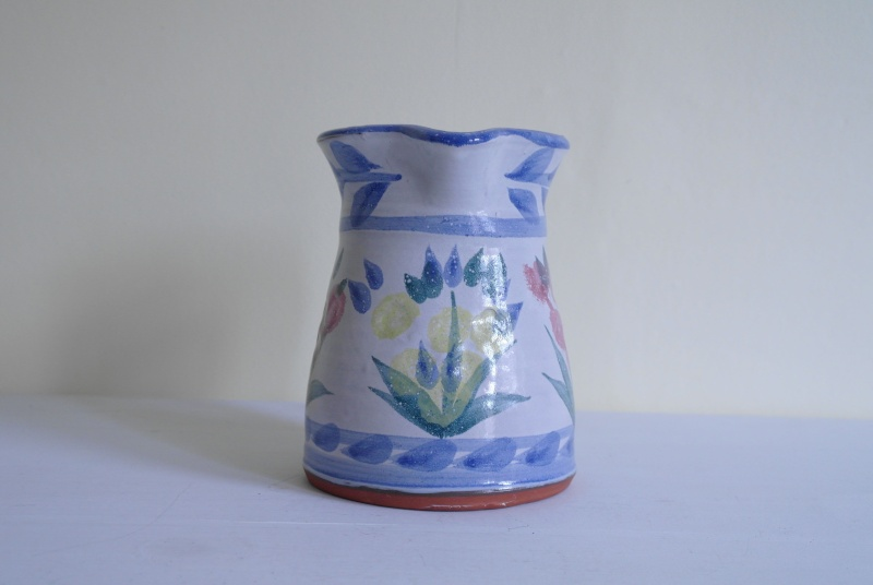 Floral Pottery Jug with Impressed Floral Makers Stamp Sam_8013