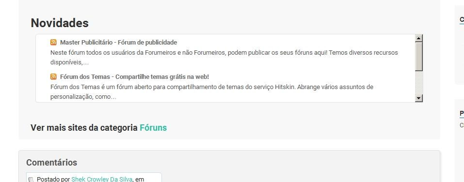 NOVO: Vincule o feed do seu site, fórum ou blog com o Diretório dos Sites Forumlive Urlfee11