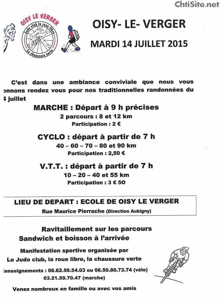 Randonnées du 14 juillet à Oisy-le-Verger ( 62 ) Randon11