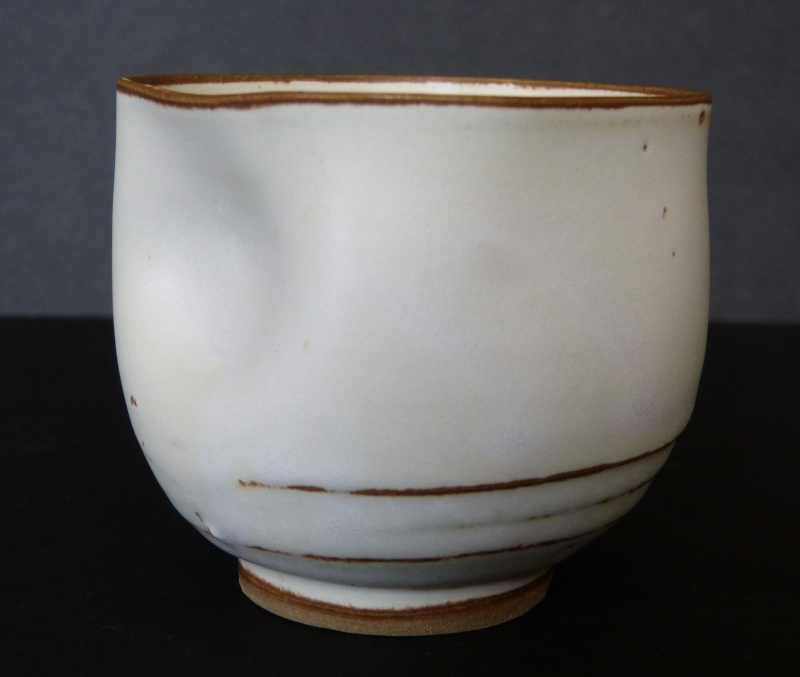 Pinched pottery cup, ID help - probably Honma, Japan  P2130613