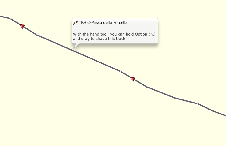 Modifier une trace sous basecamp Screen11