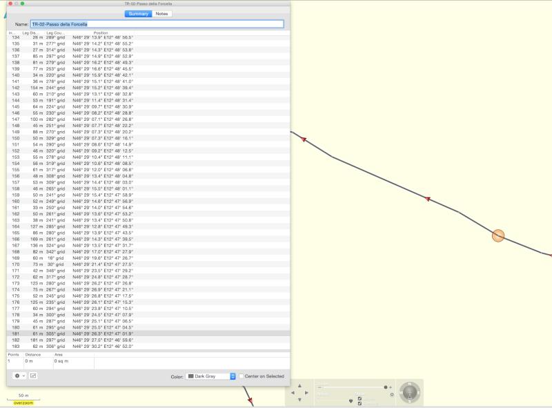 Modifier une trace sous basecamp Screen15