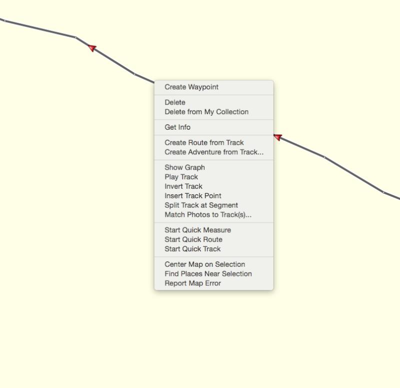 Modifier une trace sous basecamp Screen16