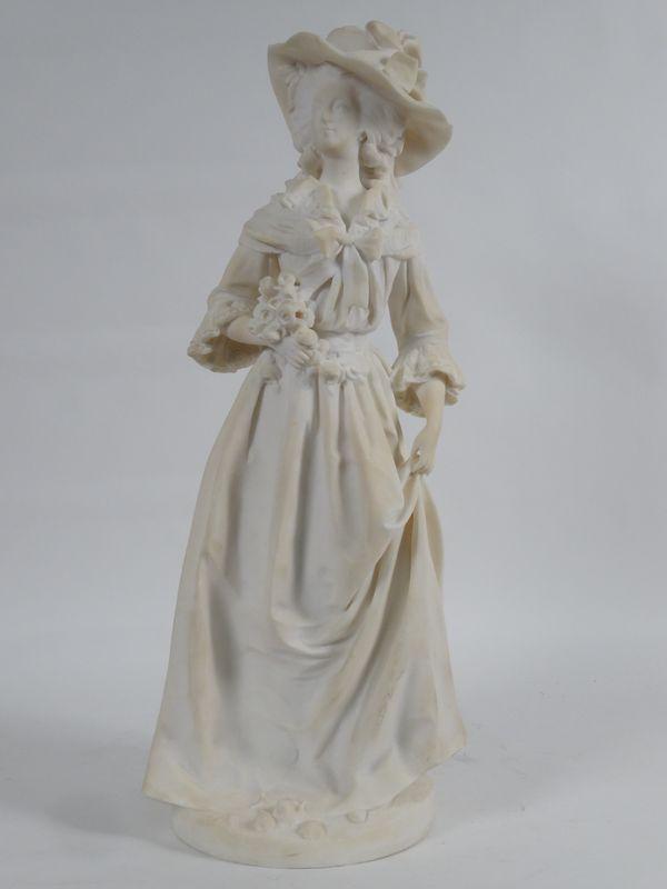 A vendre : statuette en marbre représentant la Reine Marie-Antoinette 14335010