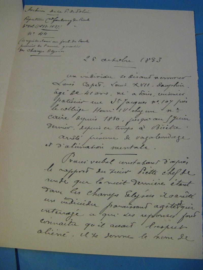 Autographe de Mr Lenotre concernant un supposé Louis XVII _5711