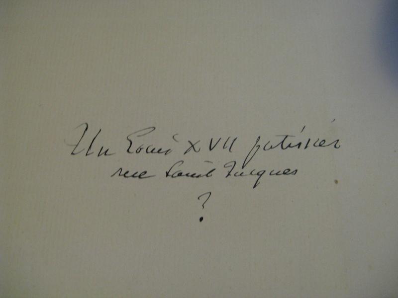 Autographe de Mr Lenotre concernant un supposé Louis XVII _5712