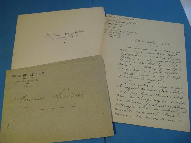 Autographe de Mr Lenotre concernant un supposé Louis XVII _5713