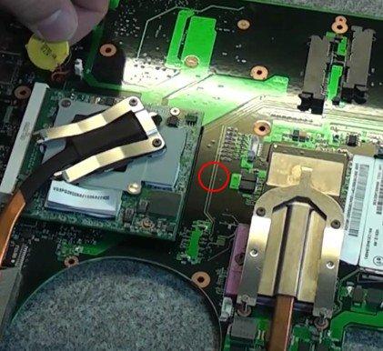 pile CMOS PC portable mal placée Pile8911