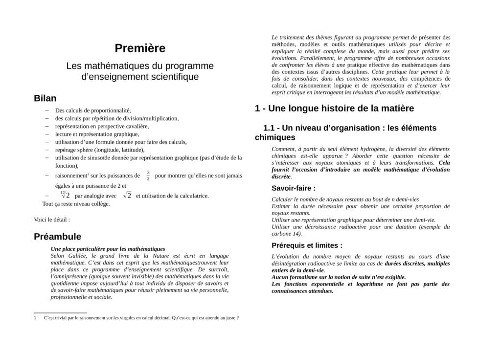 Les mathématiques au cœur du nouveau lycée ? - Page 9 Mathen15