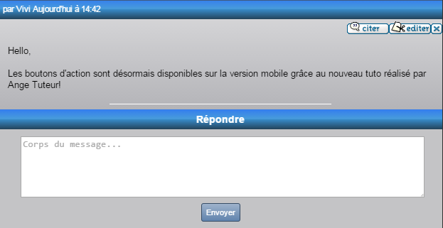 Ajouter des actions à la version mobile des forums 05-08-11