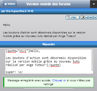 Ajouter des actions à la version mobile des forums Cita-410