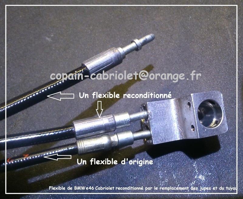 [ Reconditionnement flexibles  ] Flexible hydraulique pour cabriolet ou CC Flexib14