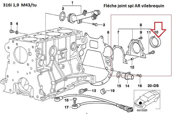 [ BMW E46 316i M43tu an 2000 ] Claquement admission gargouillis dans puit de jauge 11_m4315