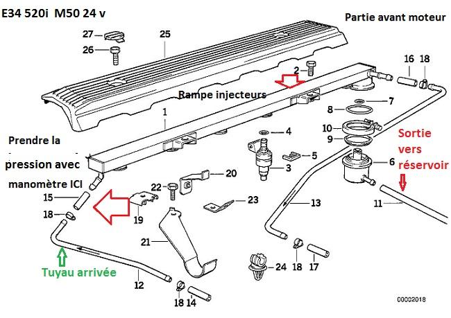 (Abandonné )[ BMW E34 520i 24v M50 an 1992 ] Problème accélération et démarrage 13_e3410