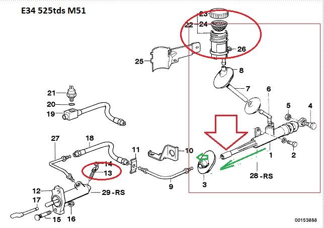 [ BMW e34 525tds an 1993 ] comment extraire l'émetteur d'embrayage ? (résolu) 21_e3411
