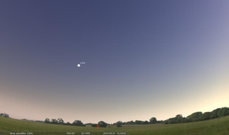 2015: le 27/06 à 21h35 - Lumière étrange dans le ciel  -  Ovnis à versailles - Yvelines (dép.78) Stella11