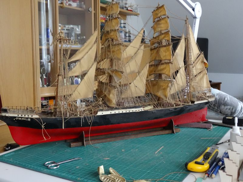 Instandsetzung der Pamir von Graupner, gebaut von Kurti P111