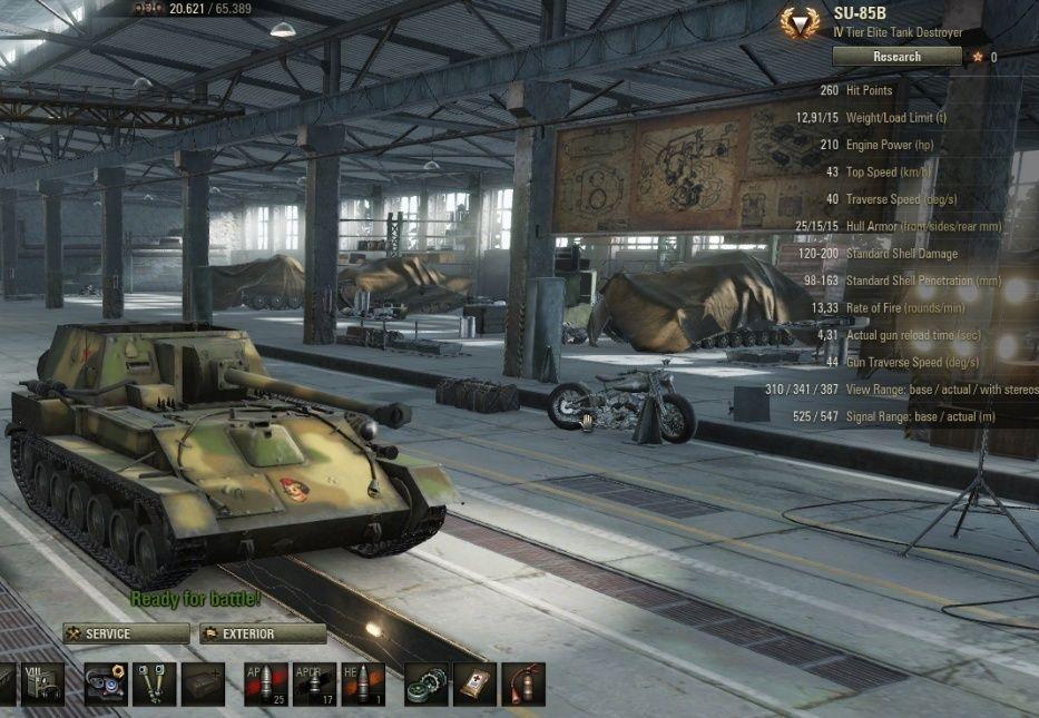 SU-85B Berechnung der Viewrange Su-85b11