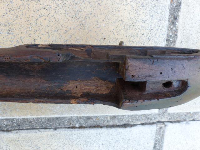 Après le bois attaqué par les vers, le bois ruiné par les vers! P1040913