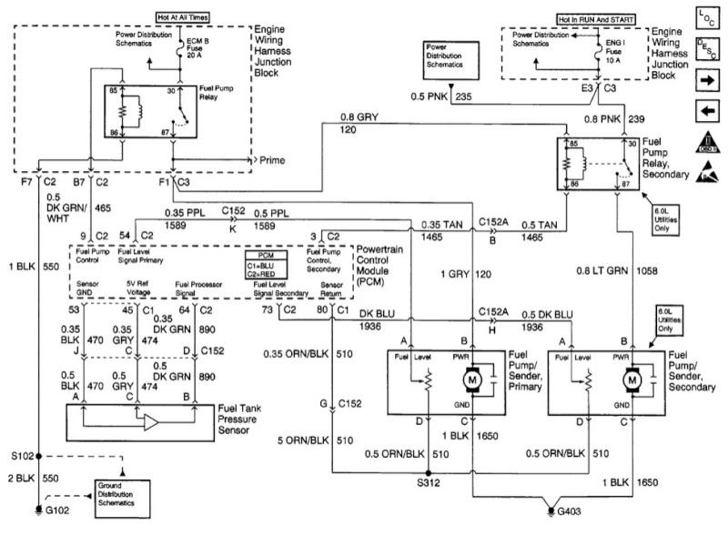Chevrolet silverado 1500 2000 4.8l trouble alimentation pompe a gaz Gab10