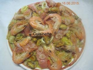 Boulgour aux crustacés.saumon rose.safranés.photos. 11267710