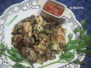 Émincé de poulet aux cocktail de champignons.photos. Img_7231